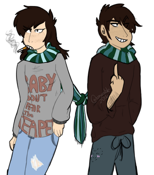 |OC| Jersey duo by Smol-Maple-son