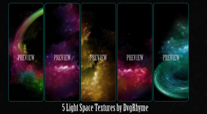Pack 5 Light Space Textures by Dvg by Dvilgabrimhf