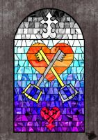 Kingdom Hearts Stained Window by cybershadowmoon