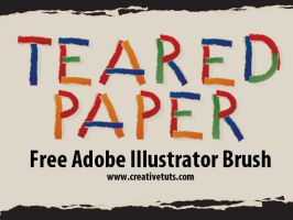 Teared Paper Brush for AI by Grasycho