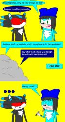 First Comic: Mephiles and Lio by 33482