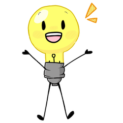 happy Lightbulb :) (inanimate insanity) by ThatOneGalWhoIsWeird