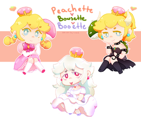 Peach Girls by Artist-squared