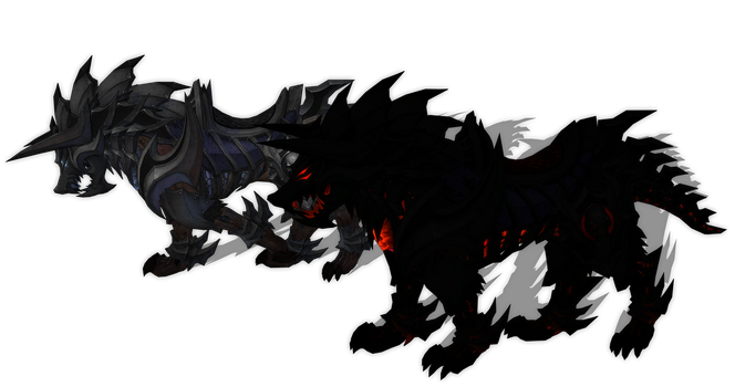 MMD Wolves from Tera by Boneria