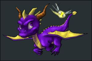 Spyro the Dragon by bunnicustard