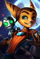 Ratchet and Clank by Lushies-Art
