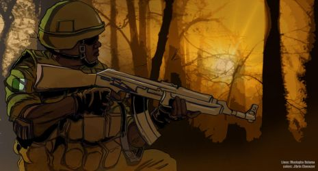 dedicated to Nigerian forces fighting insurgency by jibrinarts