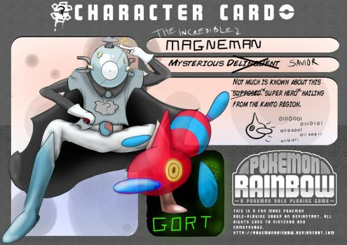 Magneman - Character Card by BitBallet