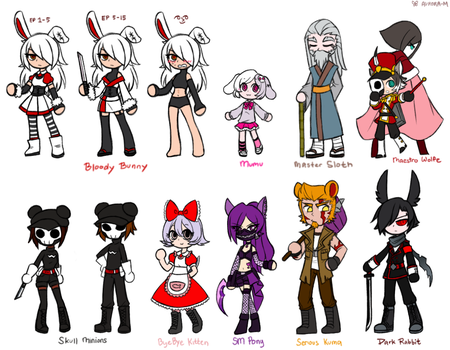 Bloody Bunny and ''Friends'' by Sapphire-M