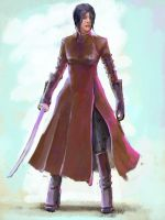 The girl with sword by genek