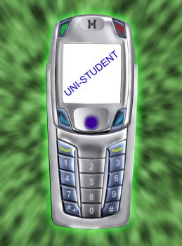 mobile phone by Uni-student