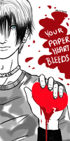 Your Paper Heart Bleeds by acktacky
