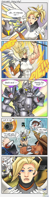 Overwatch Comic : Mercy Why by dynoxter