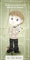 John Watson Bookmark by nameless-aries