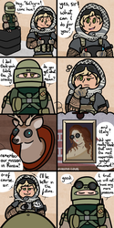 Valk Doesn't Take Her Job Seriously by FrostedClouds