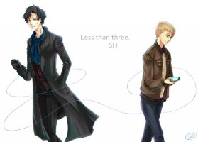 BBC Sherlock- less than three by Clicio