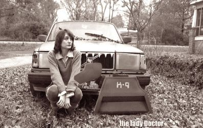 Doctor Who- A Girl A Dog A Car With Teeth bw by Prof-Mrs-TheDoctor