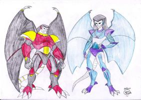 Gargoyles' armors by Lady-Scorpion