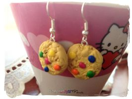 Candy Cookie Earrings by Cateaclysmic