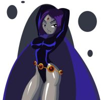 Another Raven Rendering by morganagod