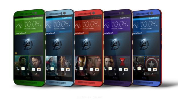 The Avengers Age of Ultron Phones HTC M9 MOCKUPS by arielcutiepieee
