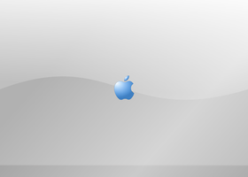 Mac Splash Screen Blue by newdeal666
