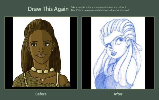 Draw This Again Contest - Portrait of a Girl by moonie
