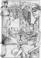 Comic Book Sample page Pencil by RodGallery