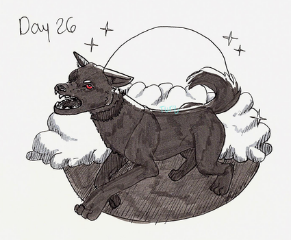 Day 26 - Black Shuck by Turq-I-Taq