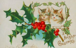 Christmas Kittens by Yesterdays-Paper
