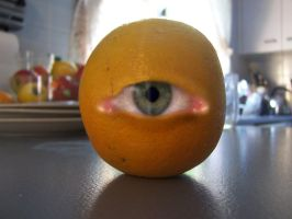 oscar the eyeballed orange by hamishwood
