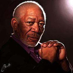 Morgan Freeman by brentonmb