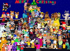 Christmas Group Picture 2017 by JustinandDennis