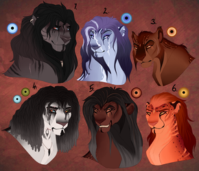Lion designs. AUCTION. CLOSED by BeeStarART