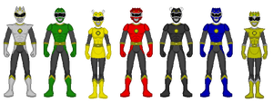 Kaiserverse - Power Rangers Heraldry Knights by Kaiserf11