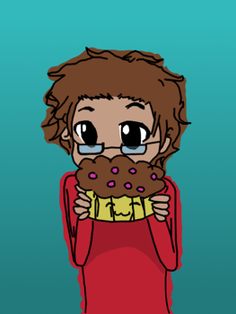 Me With A Muffin by Thefirehazard1