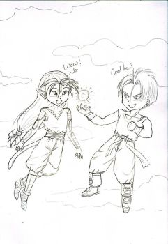 Yuki and Trunks by SeceretHeart