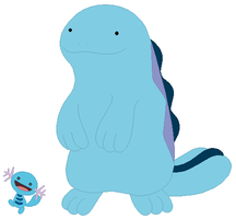 Wooper and Quagsire Base by SelenaEde