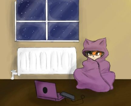 to chilly for kitty by OCsArt