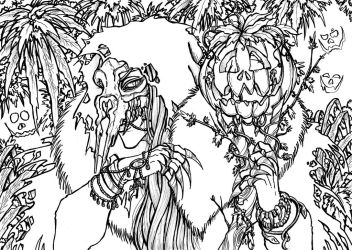 Witching Hour -Line art- by Master-Of-Fear