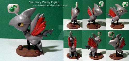 Skarmory Walky Figure by Porcubird