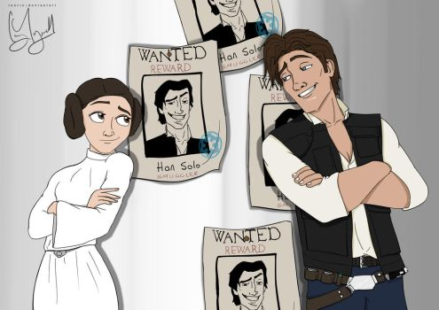 Disney!Han/Leia [Star Wars] by Luxris