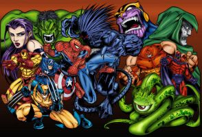 Marvel Super Heroes - Color by adzign
