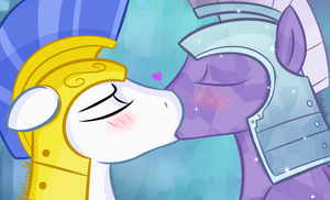 Kissing Guards by Cottonsulk