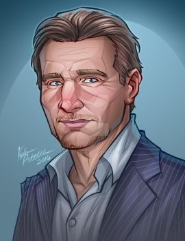 Portrait of Liam Neeson by kpetchock