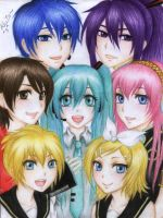 vocaloid family by Mari945