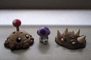 Plants Vs. Zombies Sculptures by caffwin