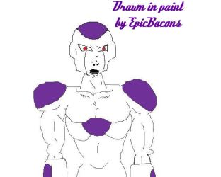 Frieza drawn in Paint by EpicBacons