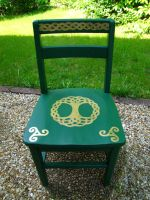 Celtic Chair for Charity by Wayland-the-Smith
