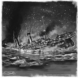 Loss of the Titanic by Eliott-Chacoco